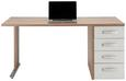 Pisalna Miza Ducato - bela/hrast, Moderno, kovina/umetna masa (160/73,00/80cm) - Premium Living