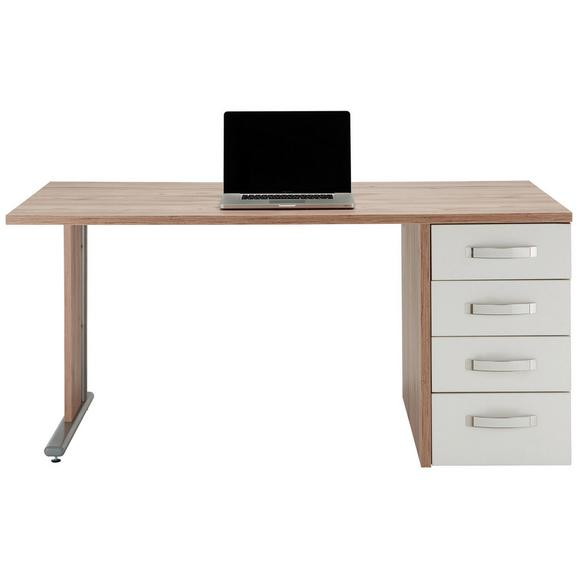 Schreibtisch Weißeichefarben Online Kaufen Mömax