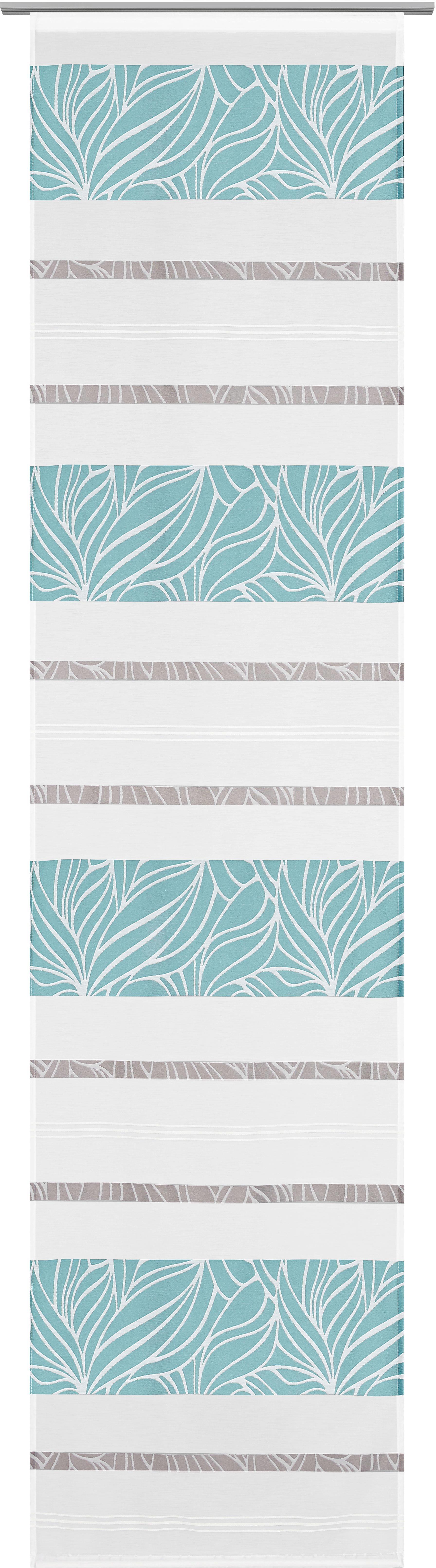 Flächenvorhang Anita, ca. 60x245cm - Blau, KONVENTIONELL, Textil (60/245cm) - MODERN LIVING