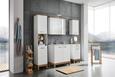 Zgornja omarica MALIBU - bela/hrast, Moderno, kovina/leseni material (40/69/22cm) - Mömax modern living