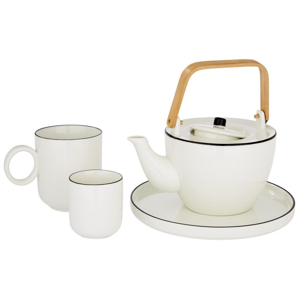 Teekanne Agnes Weiß