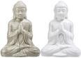 Buddha farblich sortiert aus Keramik - Weiß/Grau, LIFESTYLE, Keramik (14cm) - Mömax modern living