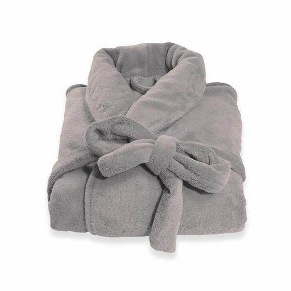 Halat De Baie Supersoft - gri, textil (S-XLnull) - Modern Living