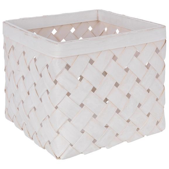Košara Cubus - S - bela/svetlo siva, Romantika, naravni materiali (24/24/19cm)