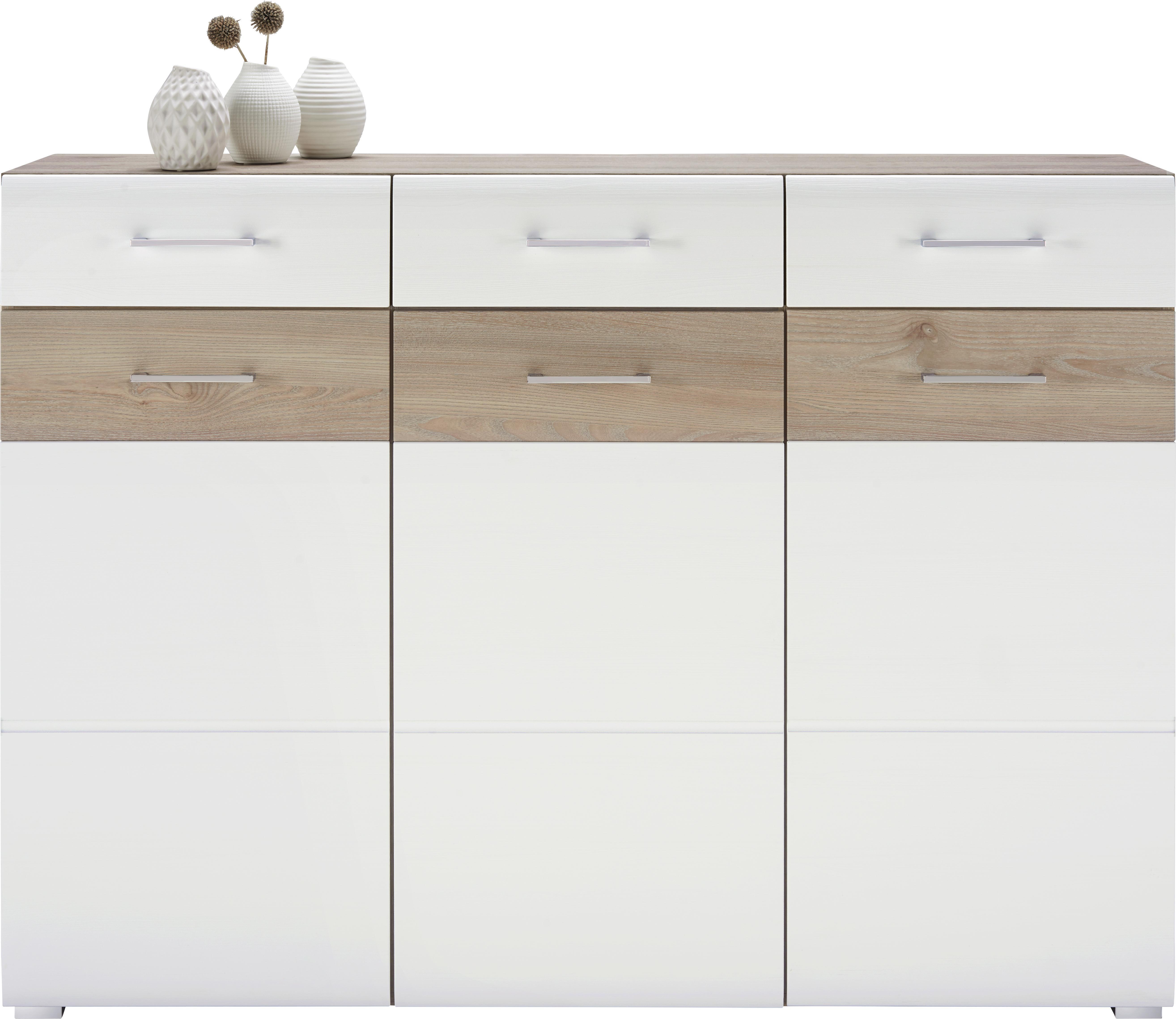 Mömax Badezimmer Schrank: Sideboard Silbereiche/Weiß Online Kaufen Mömax
