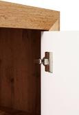 Vitrina Kashmir New - bijela/boje hrasta, MODERN, staklo/drvni materijal (57/119/36cm)