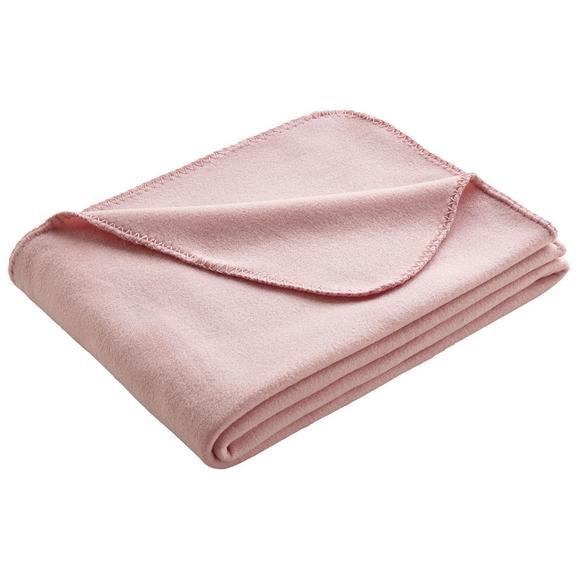 Fleecedecke in Rosa ca. 130x170 cm 'Anni' - Rosa, MODERN, Textil (130/170cm) - Bessagi Home