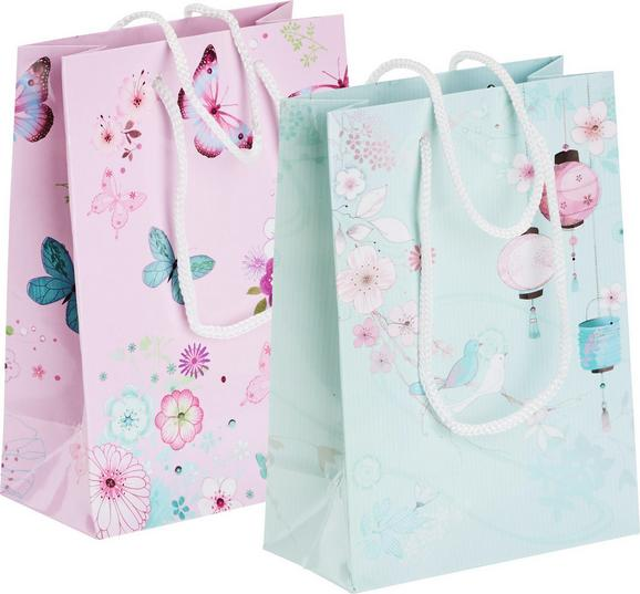 Ajándékzacskó Vögel - pink/kék, Papír (11/6/16cm) - Mömax modern living