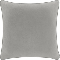 Kissen in Taupe 'Carolyn' ca. 45x45cm - Taupe, MODERN, Textil (45/45cm) - Bessagi Home
