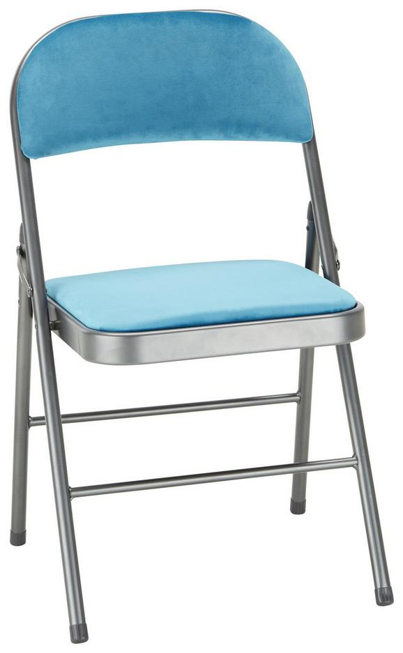 Klappsessel in Blau - Blau/Grau, MODERN, Textil/Metall (46/78/46cm) - Mömax modern living