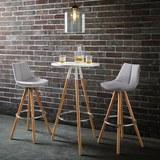 Barhocker Nelo - Buchefarben/Hellgrau, MODERN, Holz/Kunststoff (42/100/33cm) - MÖMAX modern living
