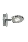 Strahler Sphere mit Led - Klar, MODERN, Glas/Metall (15/15/11cm) - Mömax modern living