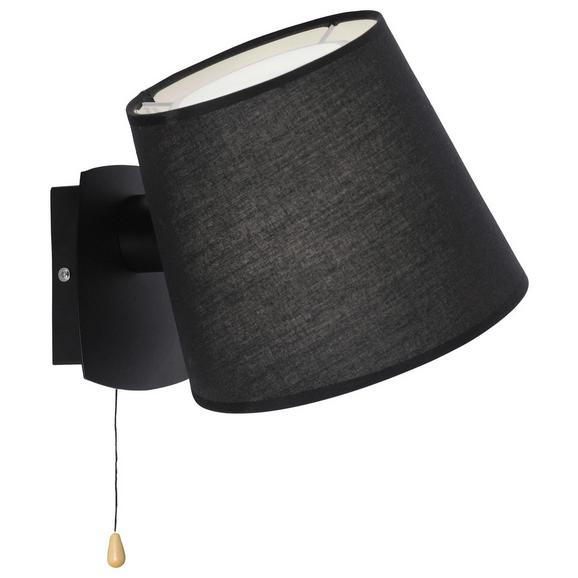 Stenska Svetilka Miriam - črna, kovina/tekstil (23/20/26cm)