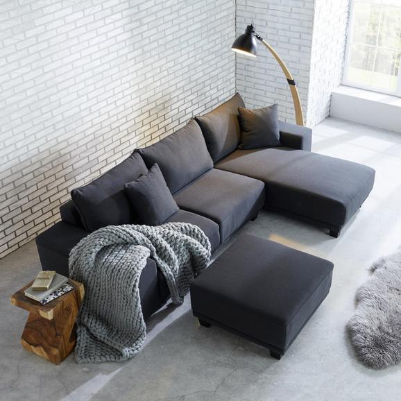 Wohnlandschaft Elina inkl. Hocker und Kissen - Grau, MODERN, Holz/Textil (254/153cm) - MÖMAX modern living