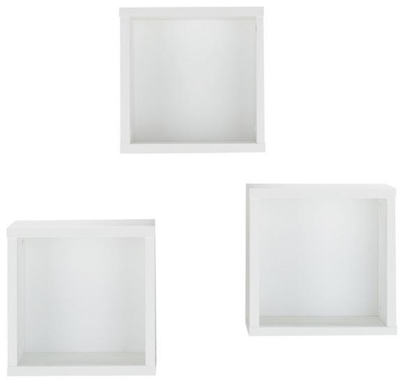 Hängewürfel-Set in Weiß - KONVENTIONELL, Holzwerkstoff (29/29/20cm) - Premium Living