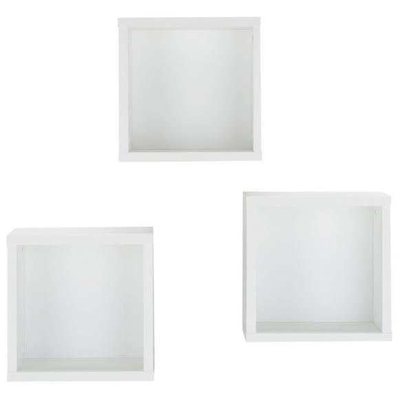 Hängewürfel-Set Weiß - KONVENTIONELL, Holzwerkstoff (29/29/20cm) - Premium Living