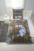 Bettwäsche Fredi in Braun ca. 135x200cm - Blau/Braun, ROMANTIK / LANDHAUS, Textil (135/200cm) - Mömax modern living