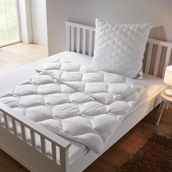 Betten Set Irisette 135x200/80x80cm - Weiß, KONVENTIONELL, Textil (135 x 200cm) - Irisette