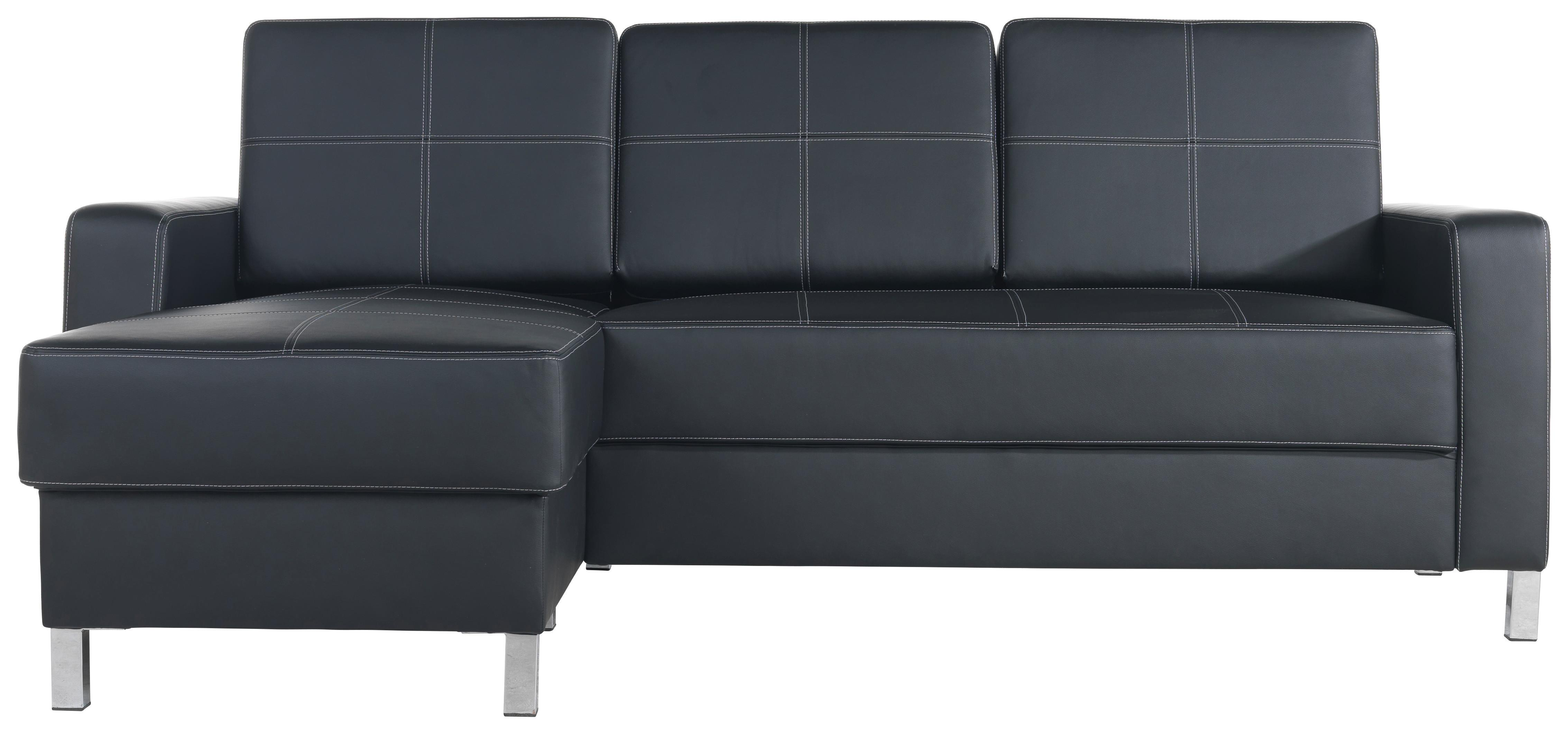 SAROKGARNITÚRA COLORADO - fekete, Lifestyle, textil/fém (203/144cm)