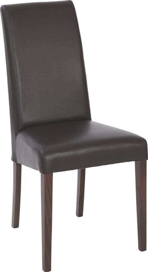 Stuhl in Braun - Dunkelbraun, KONVENTIONELL, Holz (48/104/48cm) - Zandiara