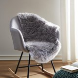 Fell Romy ca.60x95cm - Hellgrau, MODERN, Textil (60/95cm) - Mömax modern living