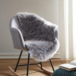 Kunstfell Romy - Hellgrau, MODERN, Textil (60/95cm) - Mömax modern living
