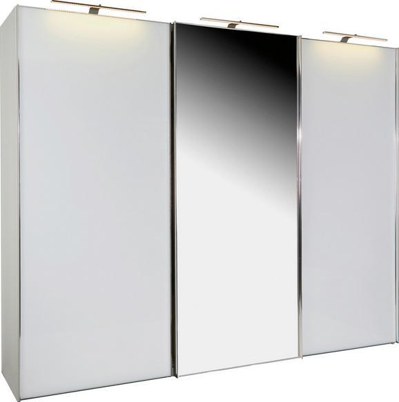 Omara Z Drsnimi Vrati Sonate Rom - bela/krom, Moderno, kovina/leseni material (298/240/68cm) - Premium Living