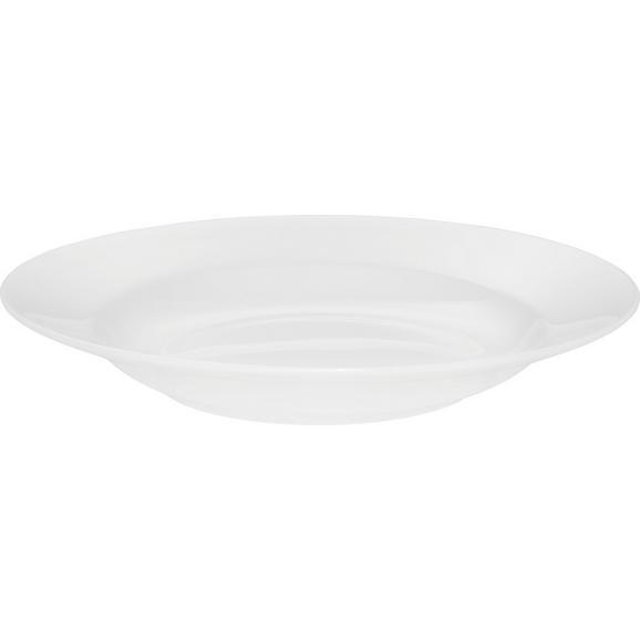 Farfurie Adâncă Bonnie - alb, Modern, ceramică (20,3cm) - Modern Living
