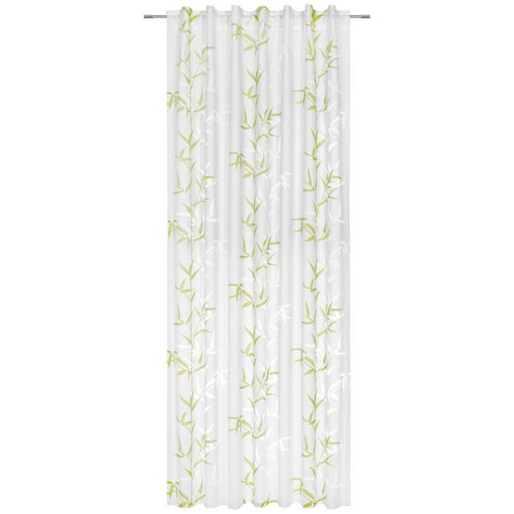 Zavesa Z Zankami Bambus - zelena/bela, tekstil (140/245cm) - Mömax modern living