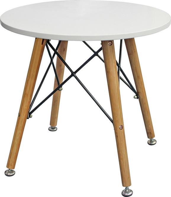 Beistelltisch in Weiß/Braun - Braun/Weiß, LIFESTYLE, Holz/Holzwerkstoff (50/45/50cm) - MÖMAX modern living