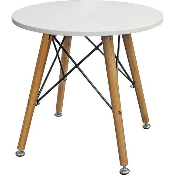Beistelltisch Weiß/Eichefarben - Eichefarben/Weiß, LIFESTYLE, Holz/Holzwerkstoff (50/45/50cm) - Mömax modern living