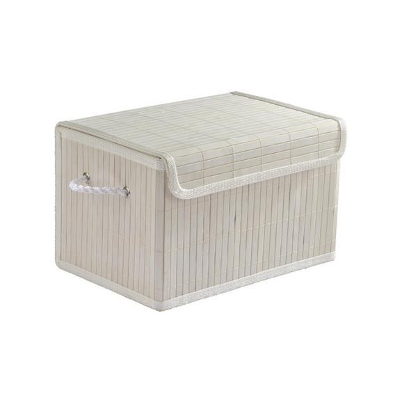 Kosár Bamboo White - Fehér, Fa/Textil (33/22/20cm) - Mömax modern living