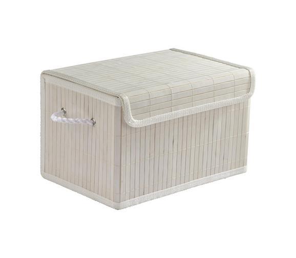 Košara Bamboo White - bela, tekstil/les (33/22/20cm) - Mömax modern living