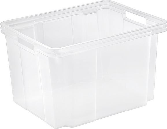 Aufbewahrungsbox Kunst - Transparent, Basics, Kunststoff (34.4/21.3/27.0cm)