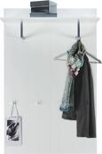 Garderobenpaneel in Weiß Hochglanz - Weiß, LIFESTYLE, Holzwerkstoff (84/130/32,6cm) - Mömax modern living