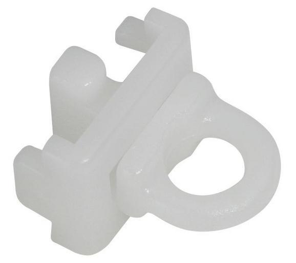Vorhangschienenzubehör Tom Weiß, 4er Pack. - Weiß, Kunststoff (1,5/1,4/1,4cm) - Mömax modern living