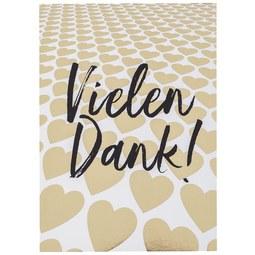 Postkarte Vielen Dank - Goldfarben/Schwarz, MODERN, Papier (10,5/14,8cm)