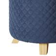 Hocker Joris mit Stauraum - Blau/Grau, MODERN, Holz/Textil (45/50cm) - Modern Living