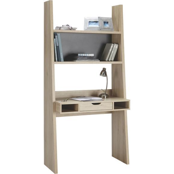 Schreibtisch Eiche - Eichefarben/Graphitfarben, MODERN, Holzwerkstoff (90/186/46cm)