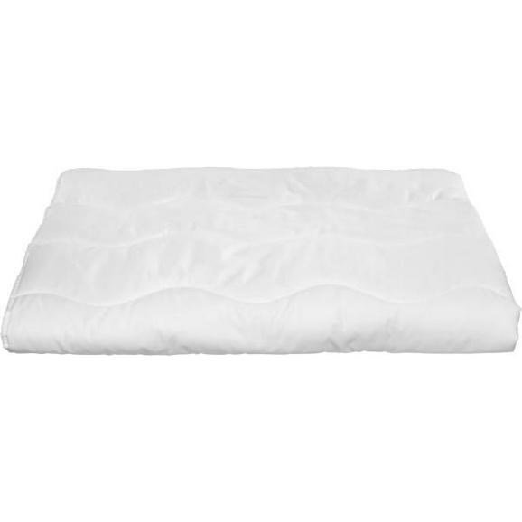 Einziehdecke Zilly, ca. 140x220cm - Weiß, Textil - Based