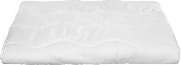 Einziehdecke Zilly, ca. 140x220cm - Weiß, Textil - Nadana