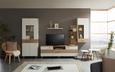 TV-Element Weiß/Eiche - Eichefarben/Weiß, LIFESTYLE, Holz/Holzwerkstoff (180/61/45cm) - Mömax modern living