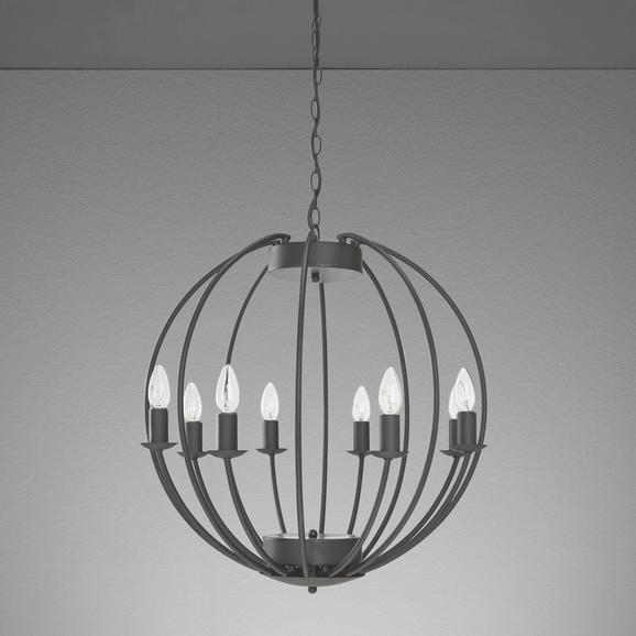 Hängeleuchte Julien - Schwarz, ROMANTIK / LANDHAUS, Metall (60/60/135cm) - Mömax modern living