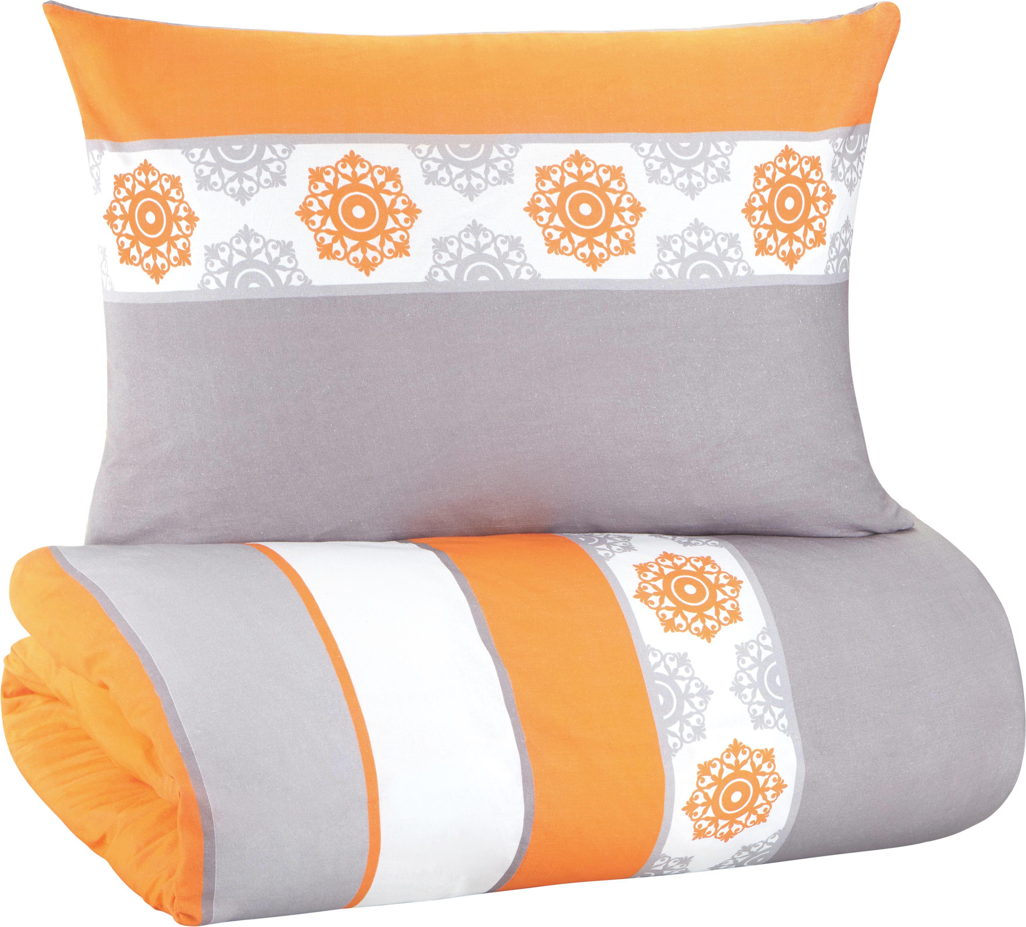 Bettwäsche Claudia ca. 135x200cm - Altrosa/Orange, Textil (135/200cm) - MÖMAX modern living