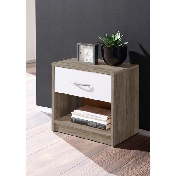 Nočna Omarica Pepe - aluminij/bela, umetna masa/leseni material (39/41/28cm) - Mömax modern living