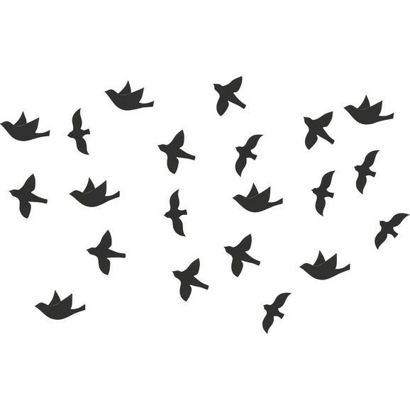 Wanddeko Birds Schwarz - Schwarz, MODERN, Kunststoff - Mömax modern living