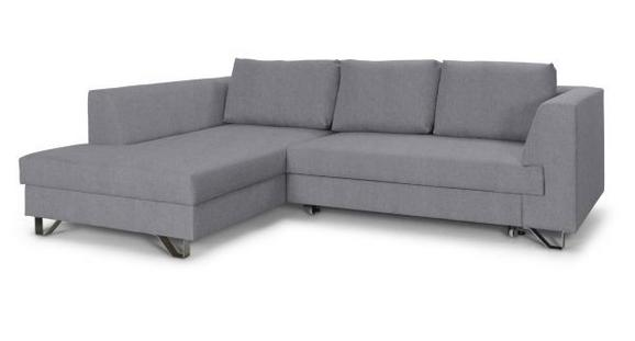Sedežna Garnitura Mohito - srebrna/svetlo siva, Moderno, kovina/tekstil (196/280cm) - Premium Living