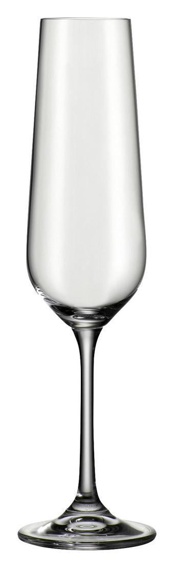 Pezsgőspohár Norma - Átlátszó, modern, Üveg (0,22l) - Bohemia