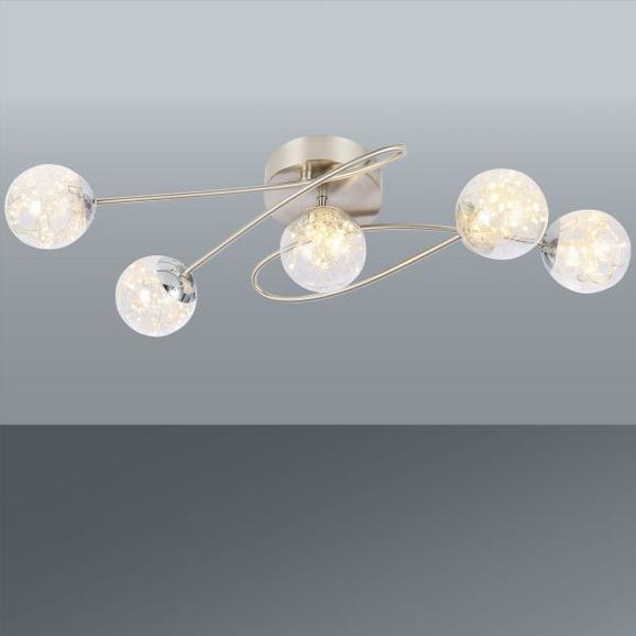 LED-Strahler Kiko, Max. 5x3,5 Watt - MODERN, Glas/Metall (62/28/19cm) - Premium Living