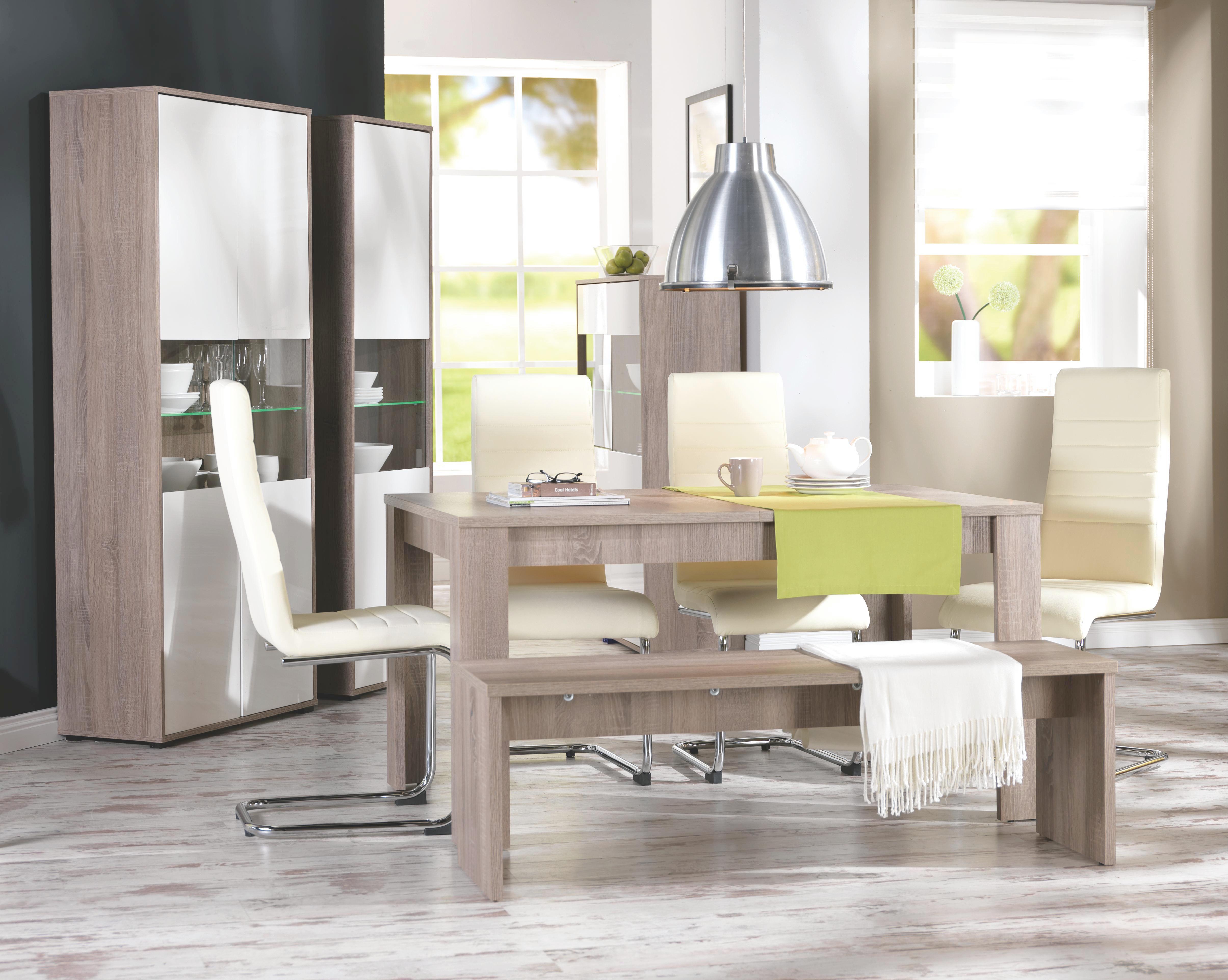 Sitzbank in Eiche Trüffel - Trüffeleichefarben, MODERN, Holzwerkstoff (138/45/37cm) - MÖMAX modern living